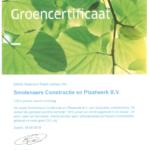 Smolenaers ontvangt groene stroom certificaat